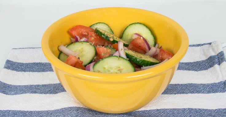Mediterranean Cucumber Salad #easy #salad #mediterranean