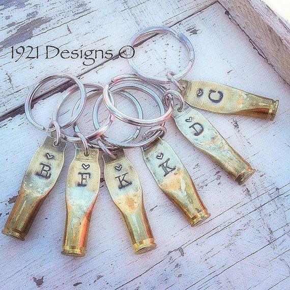 223 Shell Casing stamped key rings by 1921Designs on Etsy, $16.00