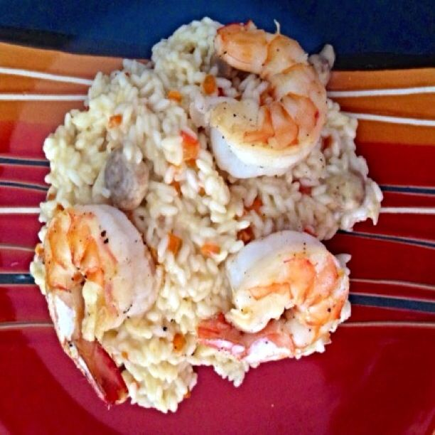 Risotto with Prawns and Mushrooms