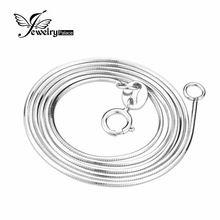 100% Réel Pur 925 Collier En Argent Sterling 16 18 Pouce Serpent colliers Chaîne Pour Les Femmes Fille Top Qualité De Mode Bijoux 2016 Nouveau(China (Mainland))