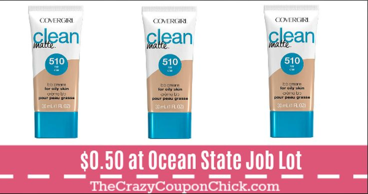 CoverGirl Clean Matte BB Cream ONLY $0.50 at Ocean State Job Lot!