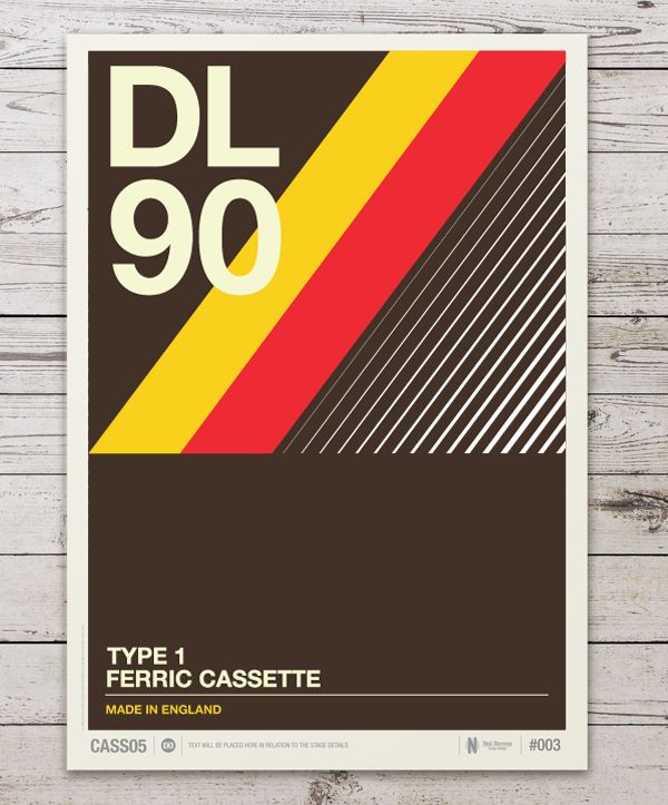 retro posters... like the use of diagonal lines, implies movement.