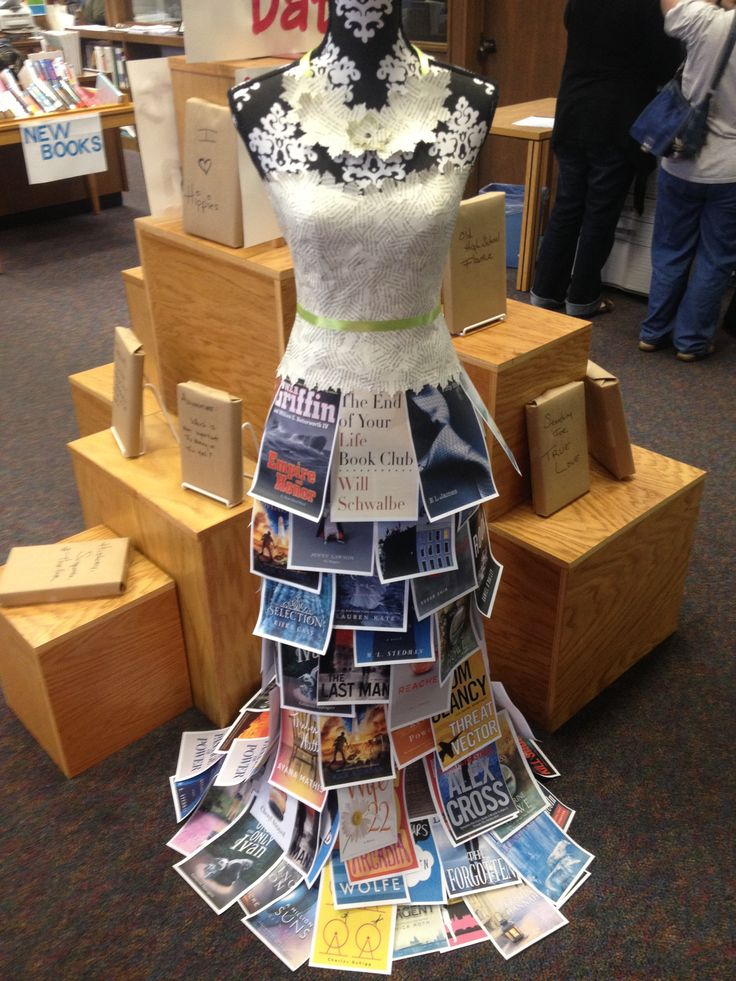 Book dress display advertising Blind Date with a Book