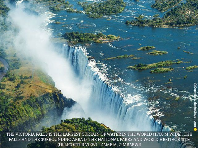 The majestic Victoria Falls will definitely look good on your screen!