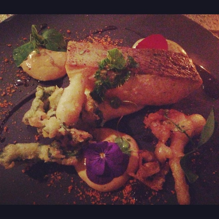 Salmon and tempura vegetables at Seaduction Soul Surfers Paradise, Gold Coast
