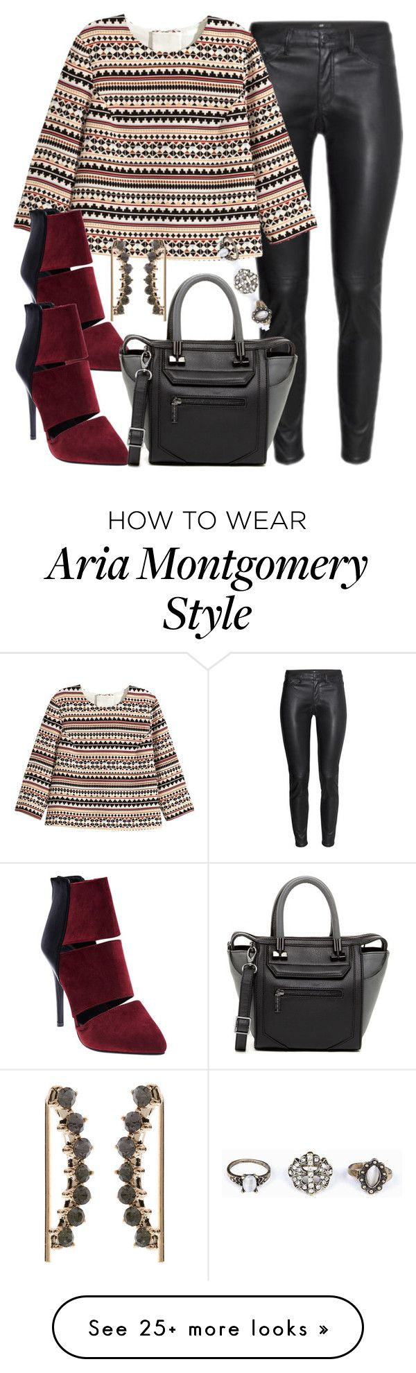 """""""Aria Montgomery inspired outfit"""" by liarsstyle on Polyvore featuring H&M, Wet Seal, Danielle Nicole, Accessorize, Work and Semi"""