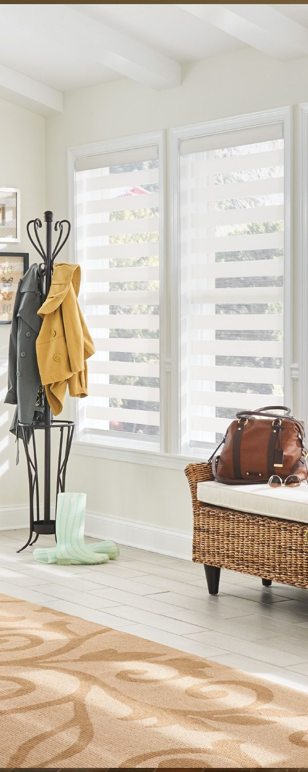 Breathe light into your home with @baliblinds Layered Shades. Try them in a white tone like Doily 4704 from the Trimaran collection. #LayeredShades