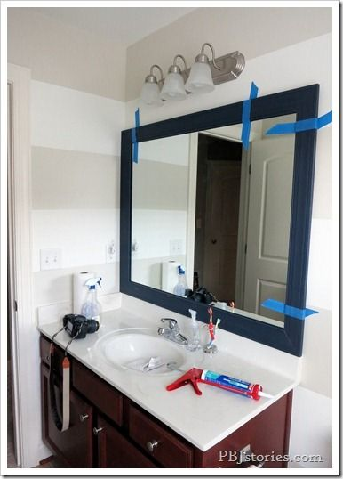 PBJstories: How to Build Your Own Mirror Frame–the easy way!