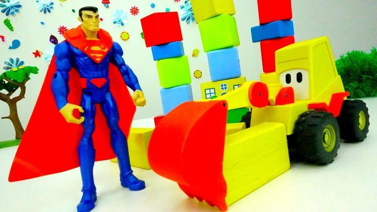Игрушки #СУПЕРМЕН и Мася: ВЫСОКИЙ ЗАМОК СУПЕРМЕНА! Конструктор для детей