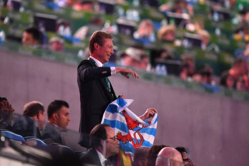 Several royals in attendance for the Opening Ceremony of the Rio 2016 Olympic Games at Maracana Stadium on August 5, 2016 in Rio de Janeiro, Brazil.   Crown Prince Frederik and Crown Princess Mary of Denmark King Willem-Alexander of the Netherlands  King Philippe and Queen Mathilde of the Belgians Grand Duke Henri of Luxembourg