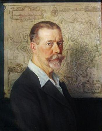 Self portrait of the Dutch artist Cornelis Jetses (1873-1955).