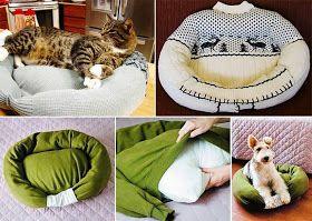 Semplicemente Chic: Cuccia con maglioni o cuscini per il tuo gatto!