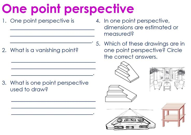 one point perspective assessment test