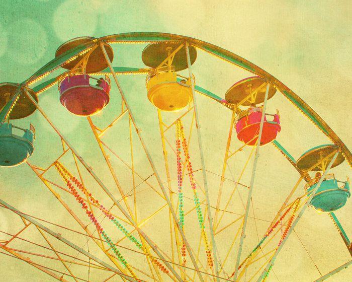 Lemon yellow citrus carnival art circus photo gumdrops fruit candy colors ferris wheel summer midway - Lemon Drops 8x10. $30.00, via Etsy.