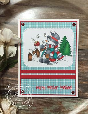 ONECRAZYSTAMPER.COM: Snowflakes for U! by Lori using High Hopes Stamps