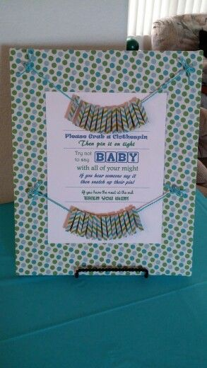 Don T Say Quot Baby Quot Clothes Pin Game Used Decorative Tape On