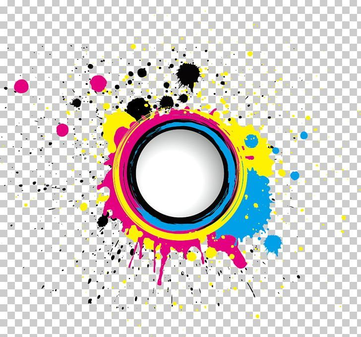 Cmyk Color Model Euclidean Stock Photography Splash Png Abstract Circle Color Colorful Ink Poster Background Design Alphabet Design Graphic Design Posters