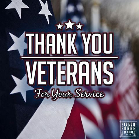A Veterans Day salute from all of us at Pigeon Forge TN Guide!