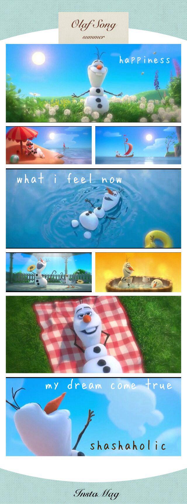 olaf frozen summer song
