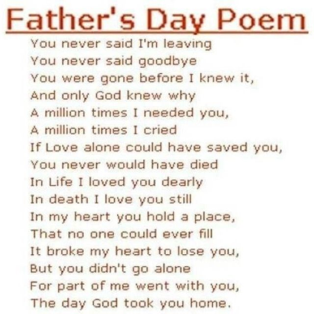 fathers day poem for daddy from son