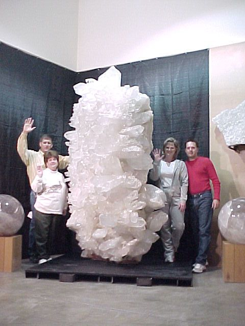 World's largest quartz crystal of its quality ever found. From the Old Coleman Mine in Jessieville, AR.