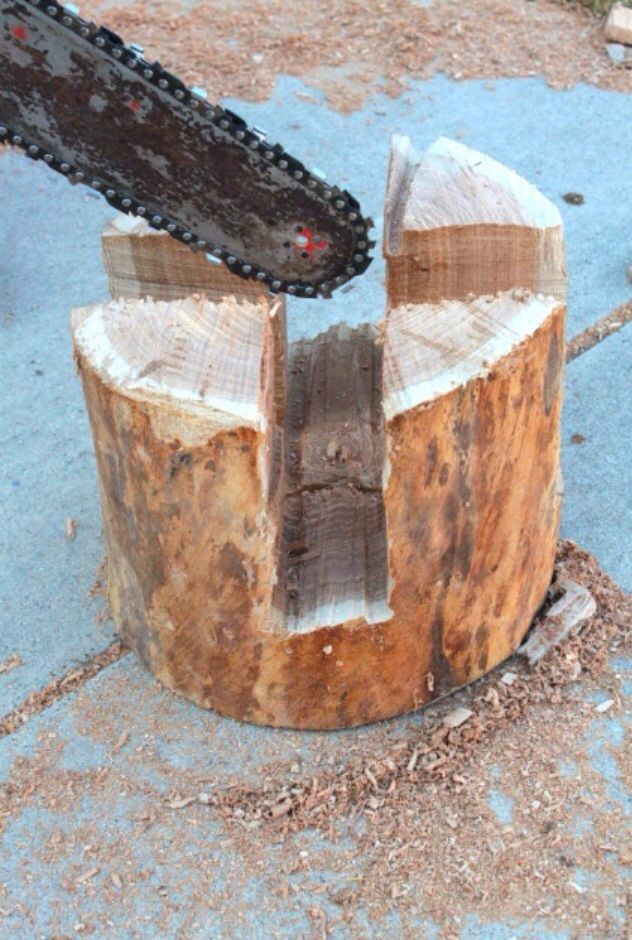 Heavy Duty Log Stool Jardineria Pinterest 목공