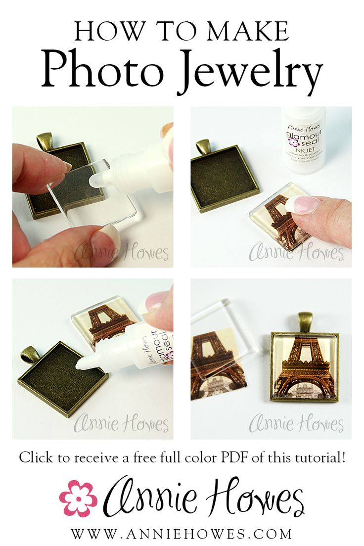 It's easy to make your own photo jewelry with Annie Howes! #makejewelry #photojewelry #glassphotojewelry