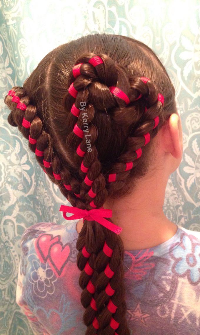 4 Strand Ribbon Braided Hearts Learn Do Teach
