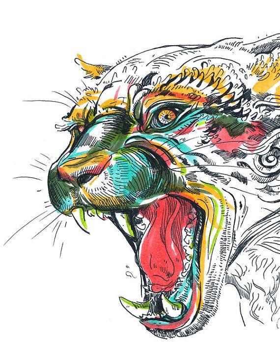 Jaguar by jacquioakley on Etsy