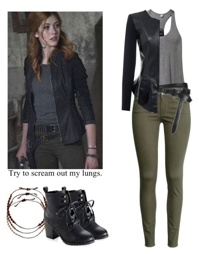 """Clary Fray - shadowhunters"" by shadyannon ❤ liked on Polyvore featuring MANGO, H&M, AllSaints, Isabel de Pedro, Chan Luu and Aéropostale"