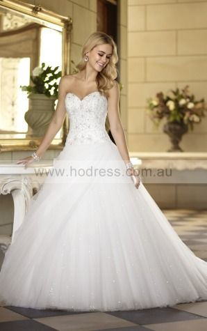 Ball Gown Sweetheart Natural Sleeveless Floor-length Wedding Dresses wes0059--Hodress