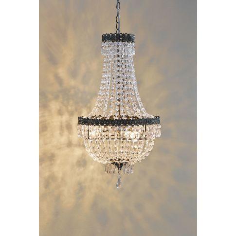 Kronleuchter Castle, glamourös, Eisen, Acryl #miavilla #ceilinglamp #lamps #lights