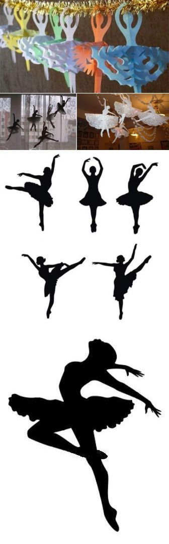 Украшаем окна к Новому году. Снежинки — балеринки из бумаги своими руками - Цветы жизни