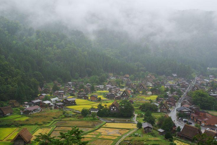 panorama sur le village de shirakawa-go