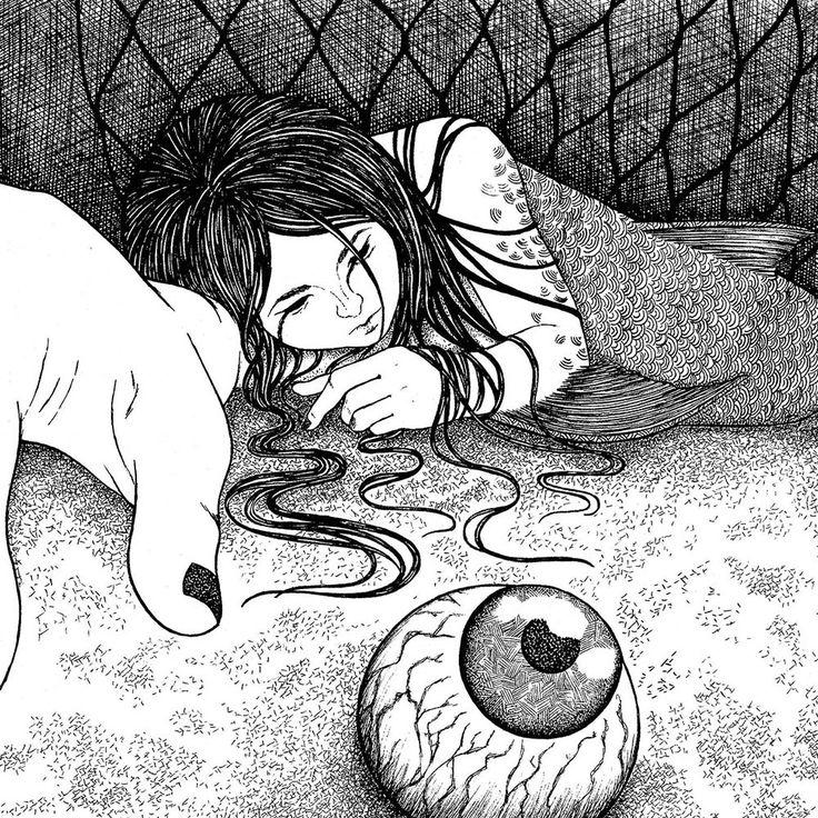 """libro de leyendas """"El Capataz del Diablo"""", """"Los Ojos de Mar"""" #ilustración #estilógrafo #ink #LlaveNegra"""