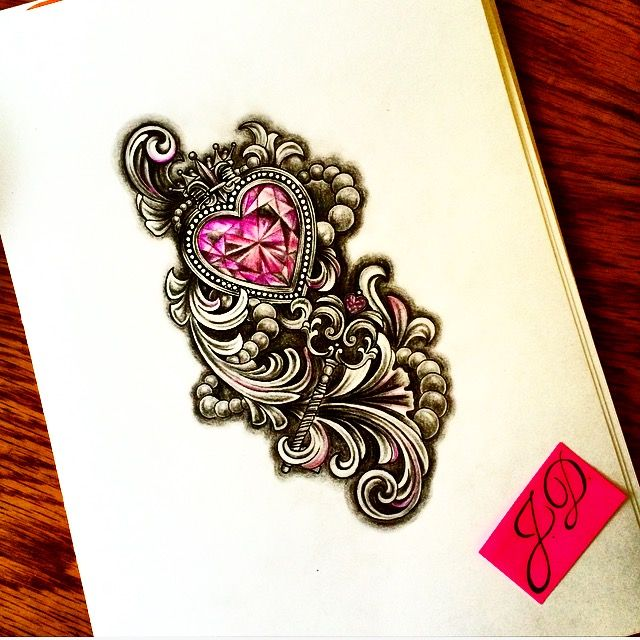 Heartdiamond #jdtattoostudio #diamond #heart #sketch #эскиз #сердце #бусы #tattoo #алмаз