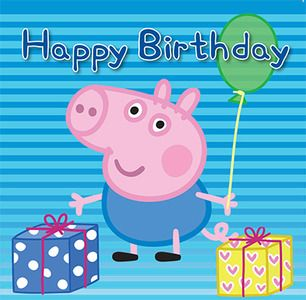 Say Happy Birthday with this adorable 16 piece Peppa Pig George Jigsaw greeting card. Card features George holding a balloon and birthday gifts.