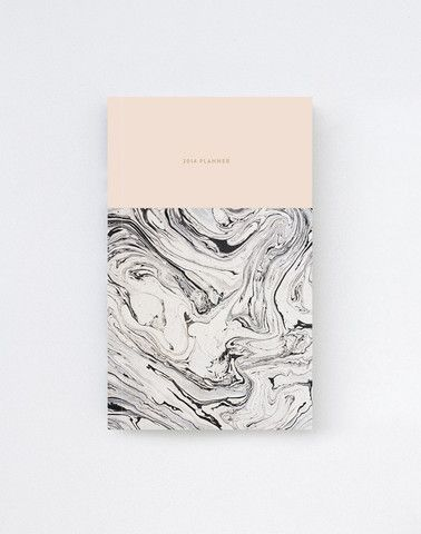 2014 Daily Planner Calendar in Marble/Pink