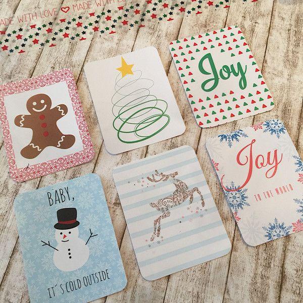 Scrapbooking-Sets - PL 3x4 Journal Cards Winterwonder Set - 2x6 Motive - ein Designerstück von Oh-la-la-Shop bei DaWanda