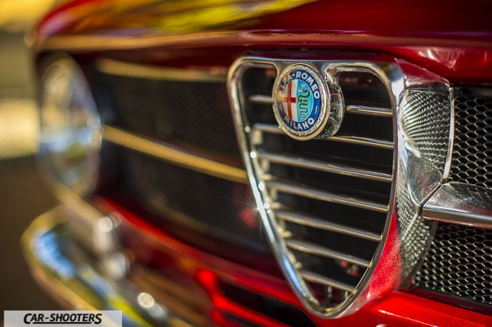 Alfa Romeo Giulia GT Junior dettaglio logo anteriore