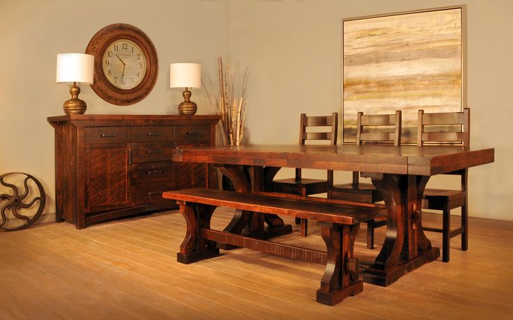 Rustic Carlisle Dining suite