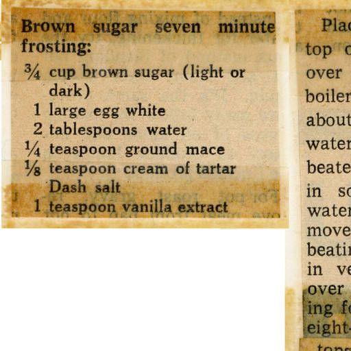 Brown sugar seven minute frosting :: Historic Recipe
