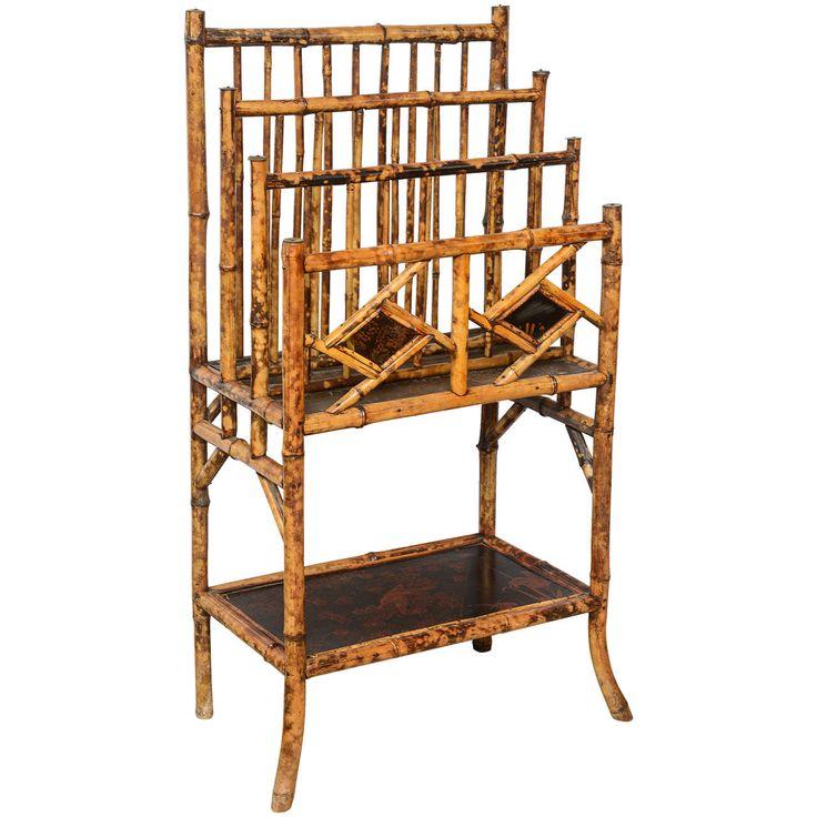 Great 19th Century English Bamboo Canterbury. Modern Magazine RacksFaux ... Amazing Design