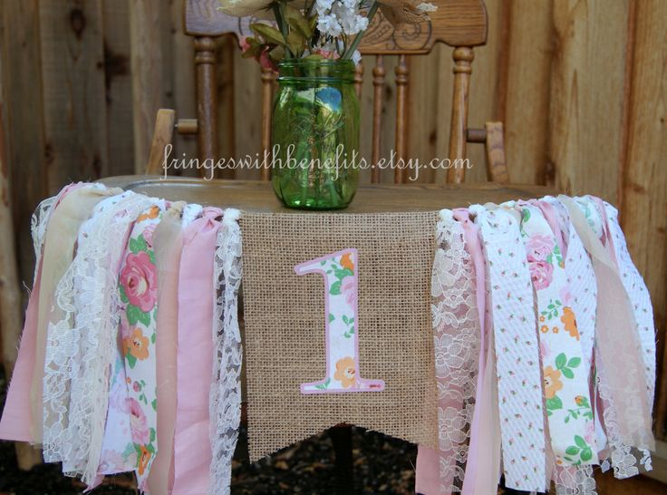 Pink Rose Birthday Banner/First Birthday Highchair Banner/Cake Smash Decor/Shabby Chic Garland/Highchair Decor/First Birthday Decor by fringeswithbenefits on Etsy https://www.etsy.com/listing/226971217/pink-rose-birthday-bannerfirst-birthday