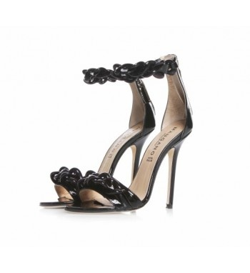 Patent leather shoes with chain details in abs.  http://shop.mangano.com/en/donna/16577-sandalo-dalhia.html  #fashion #shoes