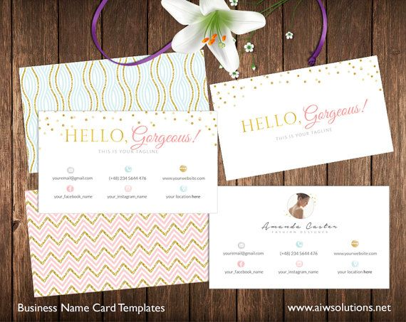Stylist Business Card Template Calling Card by aiwsolutions.net Stylist Business Card Template, Calling Card Template,gold glitter card,  Photography name card, pink and gold name card,spa business card