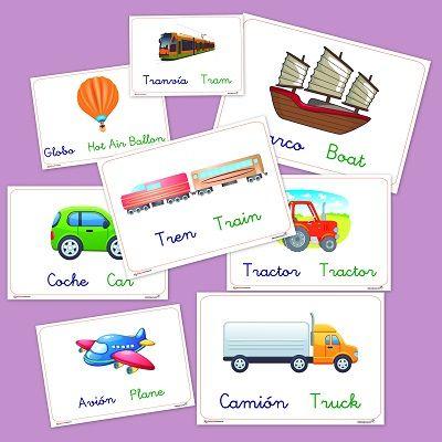 Fichas de transportes para educación infantil