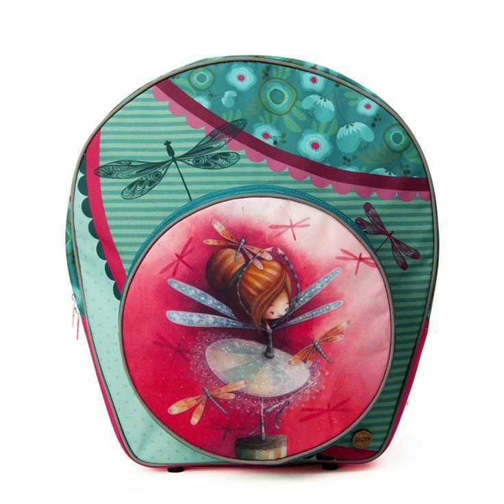 Un sac à dos aussi coloré que pratique // Sac à Dos Erika KETTO Backpack Erika // Fermeture éclair. Pochette avant & intérieur. Bandes de soutien (hanches, poitrine). Contour réfléchissant. Pieds de protection sous le sac. Résistant & imperméable. // Zipper closure. Front & inside pocket. Hips & chest support straps. Light reflective. Protective feet under the bag. Strong waterproof fabric. // SacÀDos #Backpack #Scolaire #Ketto