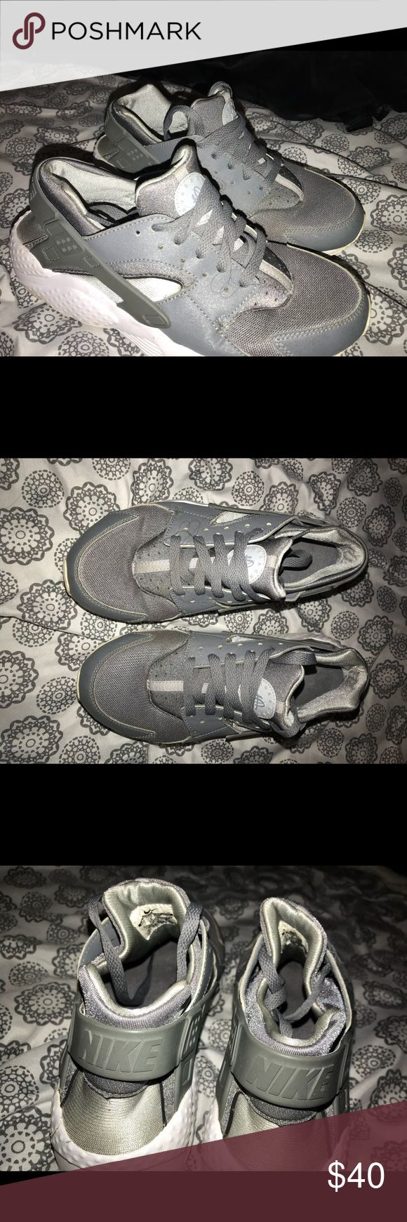 grey huaraches Slightly worn, in great shape Nike Shoes Athletic Shoes