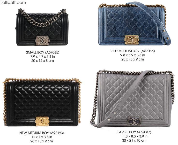 chanel le boy flap handbag purse bag size comparison dimension guide